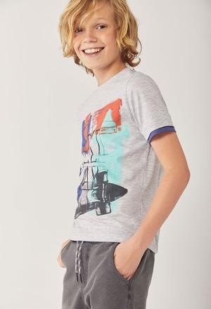 "Camiseta punto ""skateboard"" de niño_1"