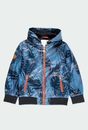 "Technical fabric parka ""leaves"" for boy_1"