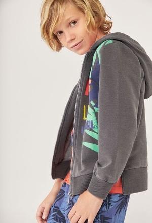 Fleece jacket denim for boy_1