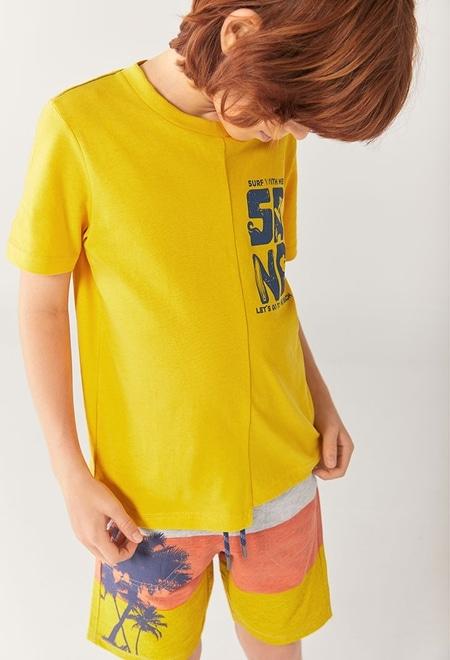 "Fleece bermuda shorts ""palm trees"" for boy_1"