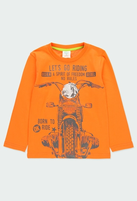 """Knit t-Shirt """"motorcycle"""" for boy_1"""