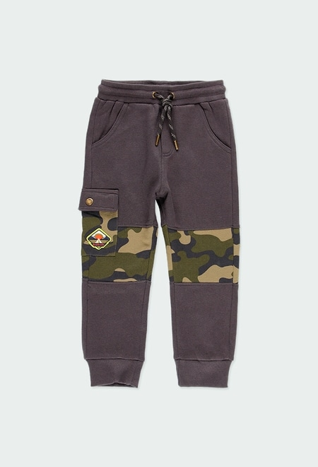 Fleece trousers with stripes for boy_1