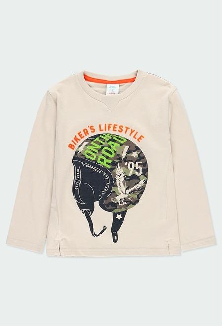 "Camiseta punto ""casco"" de niño_1"