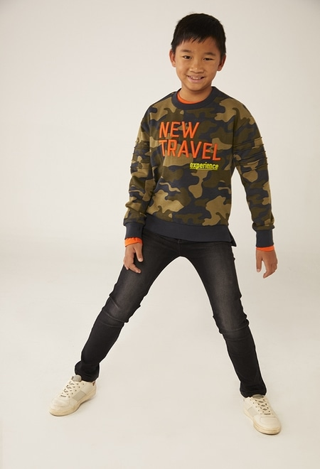 Sweat-Shirt plüsch camouflage für junge_1