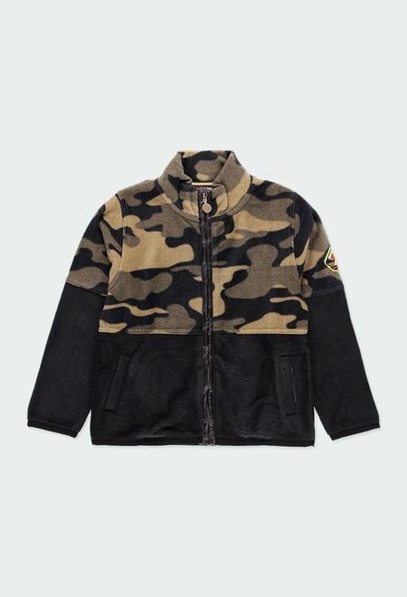 Polar fleece jacket camo for boy_1