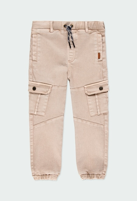 Twill trousers knit for boy_1