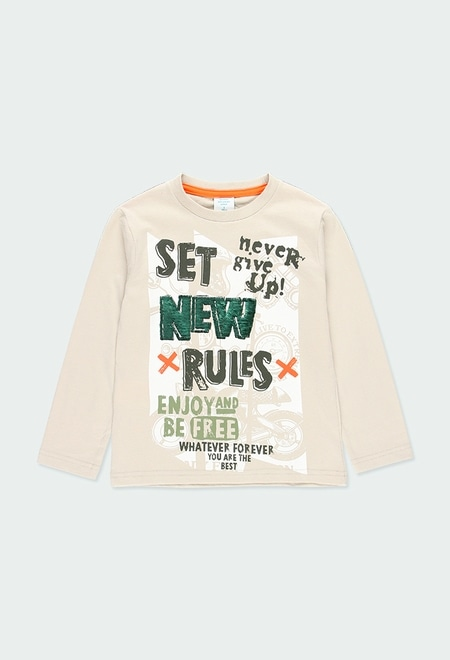 Camiseta punto estampada de niño_1