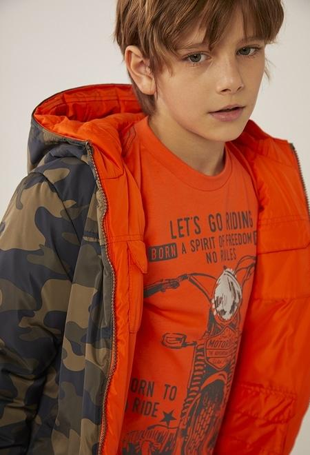 Parka reversibel camouflage für junge_1