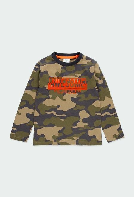 T-Shirt gestrickt camouflage für junge_1