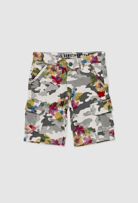 Fleece bermuda shorts for boy_1