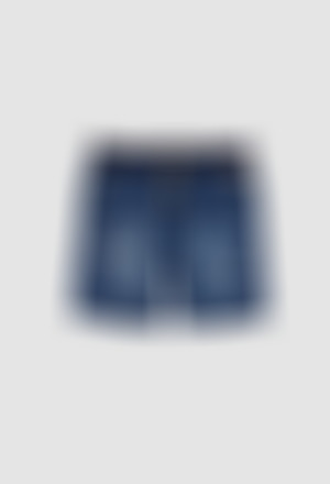 Knit denim bermuda shorts stretch for boy