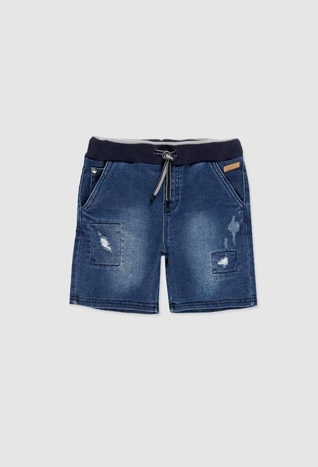 Bermuda en jean élastique pour garçon_1