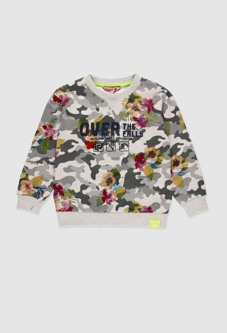 Fleece with hood sweatshirt for boy_1