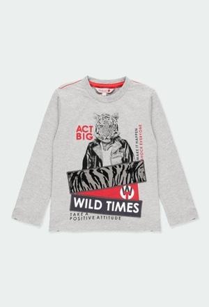 """Camiseta punto """"tigre"""" de niño_1"""