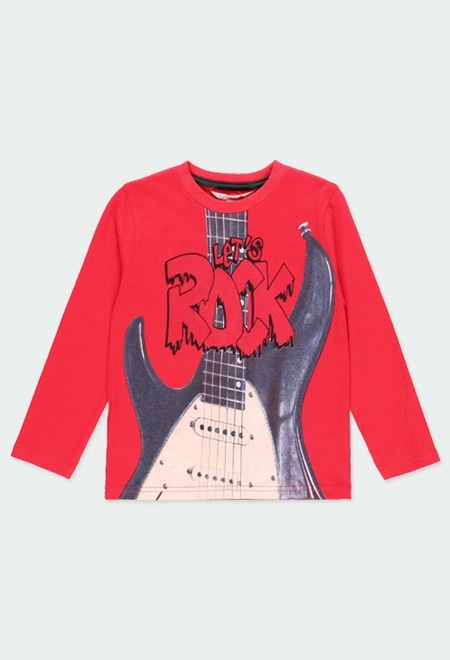 "Camiseta malha ""rock"" para menino_1"