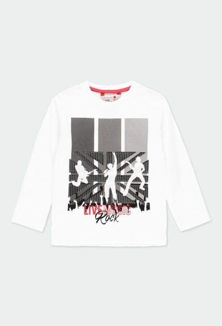 "Camiseta punto ""rock in concert"" de niño_1"
