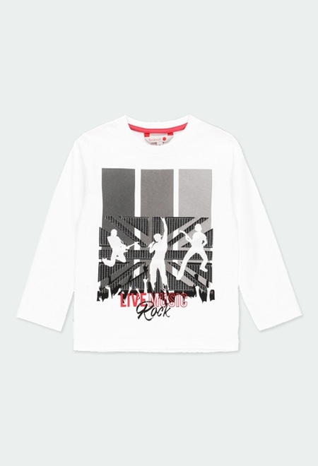 """Knit t-Shirt """"rock in concert"""" for boy_1"""