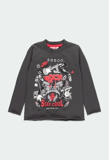 """T-Shirt tricot """"batterie"""" pour garçon_1"""