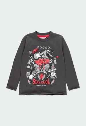 "Camiseta punto ""bateria"" de niño_1"