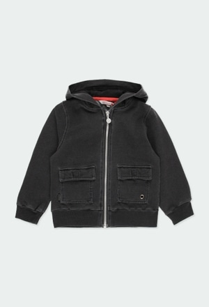 Fleece jacket denim for boy_1
