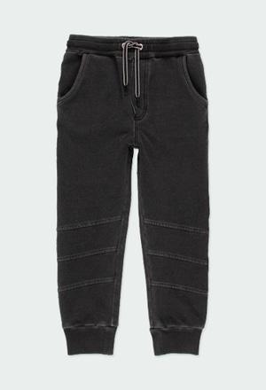 Fleece denim trousers for boy_1