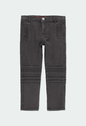 Stretch twill trousers for boy_1
