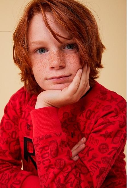 """Fleece sweatshirt """"rock"""" for boy_1"""