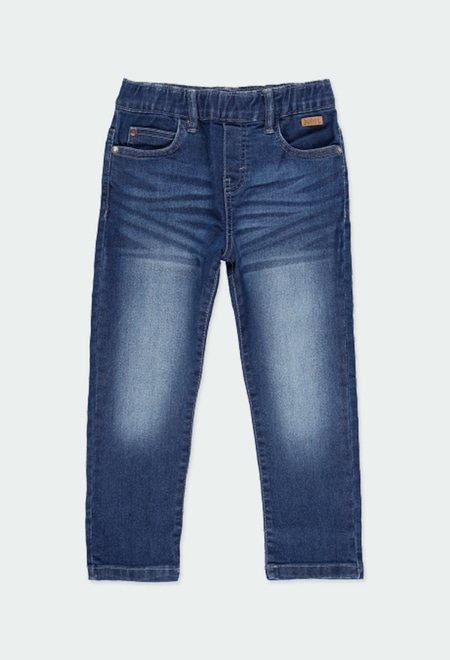 Denim stretch trousers for boy_1
