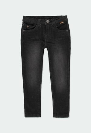 Pantaloni denim elastico per ragazzo_1