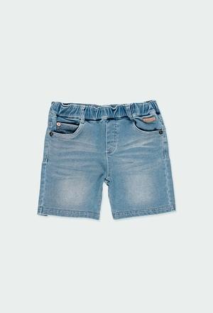 Denim bermuda shorts knit for boy_1