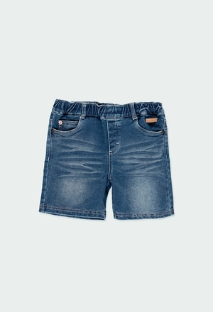 Bermuda en jean maille pour garçon_1