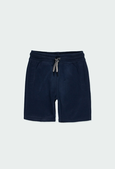 Knit bermuda shorts flame for boy_1