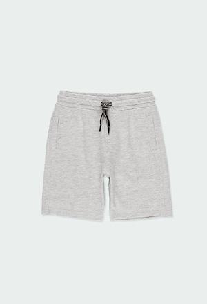 Knit bermuda shorts flame for boy_1