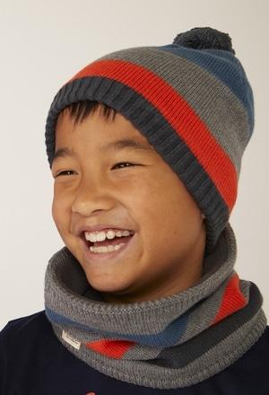 Cuello tricotosa listado de niño_1