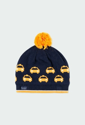 Gorro tricot carro para menino_1