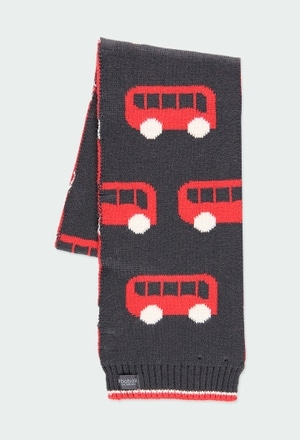 Bufanda tricotosa autobuses de niño_1