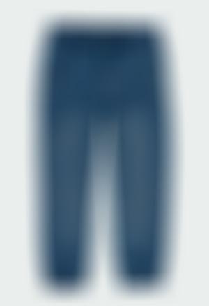 Fleece denim trousers for boy