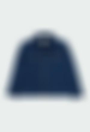Fleece jacket denim unisex