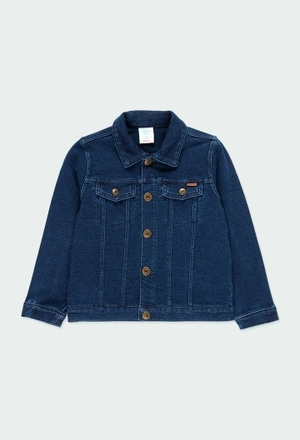Fleece jacket denim unisex_1