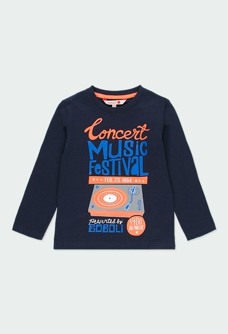 Knit t-Shirt printed for boy_1