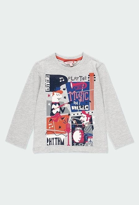 T-Shirt gestrickt gedruckt für junge_1