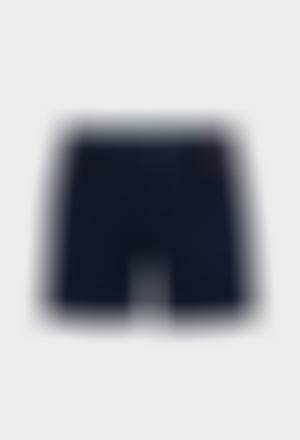 Bermuda gabardina elástica de niño
