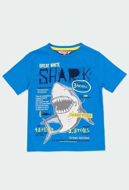T-Shirt gestrickt kurze ärmel für junge_1