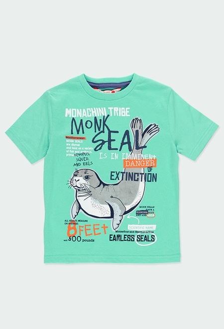Camiseta malha manga curta para menino_1