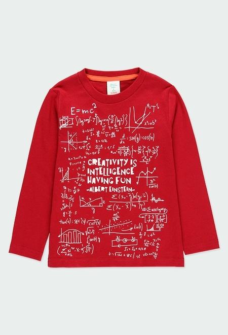 Knit t-Shirt basic printed Einstein for boy_1