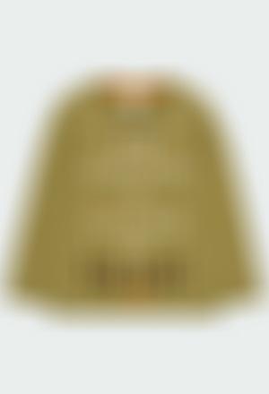 Maglietta jersey basic stampato Braille per ragazzo