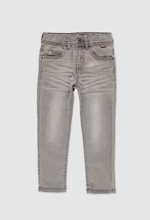 Denim stretch trousers for boy_1