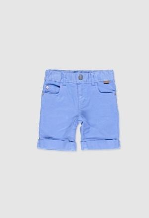 Stretch twill bermuda shorts for boy_1