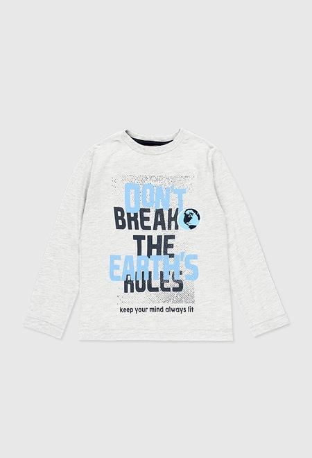 T-Shirt gestrickt lange ärmel für junge_1