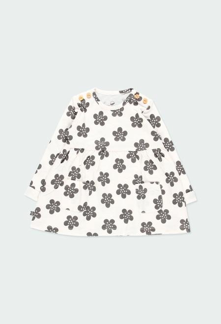 Vestido malha floral do bébé ORGANIC_1